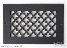 Cast Aluminum Vent Covers Clover Pattern black