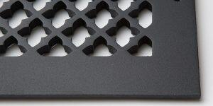 Cast Aluminum Vent Covers Clover Pattern black CU
