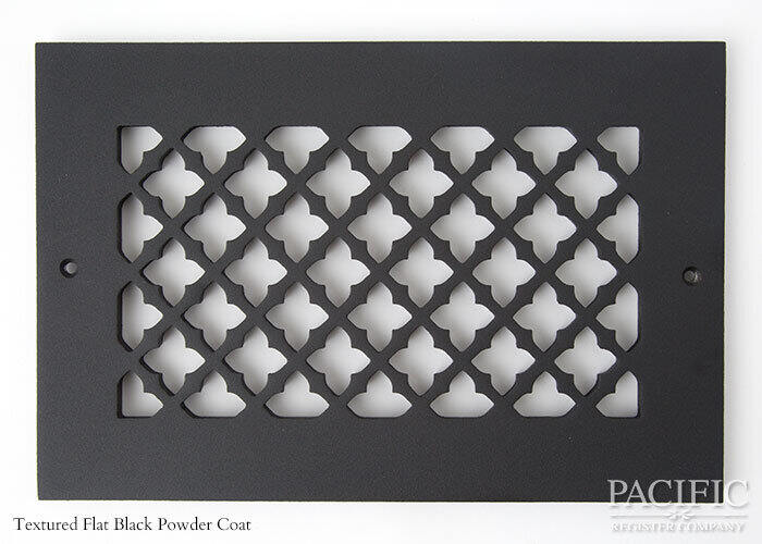 Cast Aluminum Vent Covers Clover Pattern black