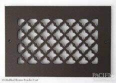 Cast Aluminum Vent Covers Clover Pattern bronze