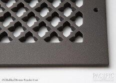 Cast Aluminum Vent Covers Clover Pattern bronze CU