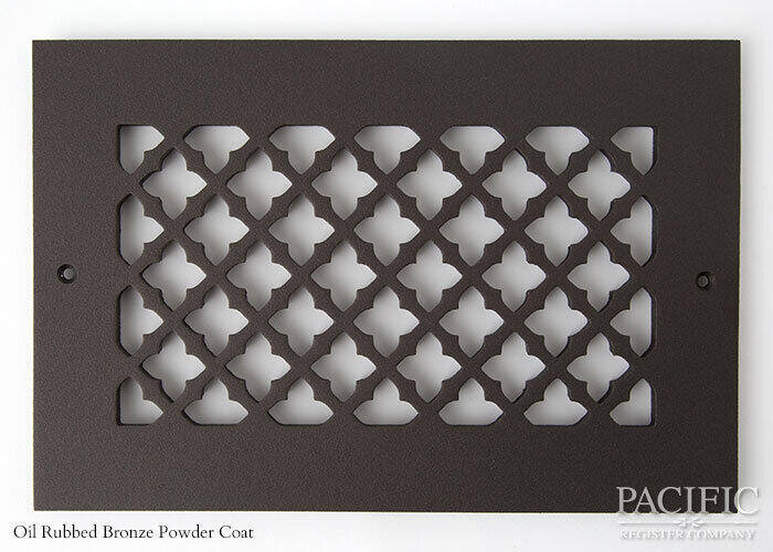Cast Aluminum Vent Covers Clover Pattern bronze
