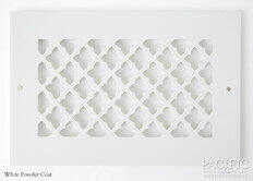 Cast Aluminum Vent Covers Clover Pattern white CU