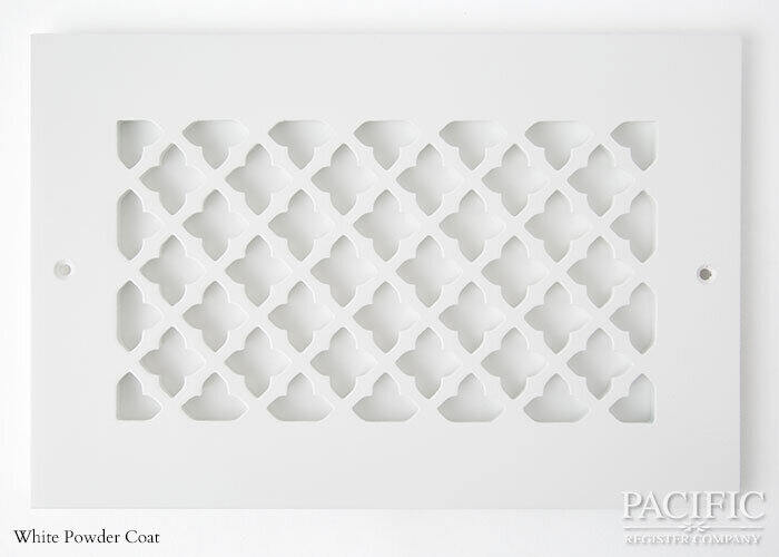 Cast Aluminum Vent Covers Clover Pattern white CU
