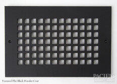 Cast Aluminum Vent Covers Square Pattern black