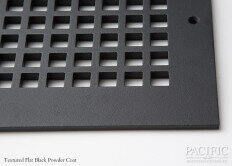 Cast Aluminum Vent Covers Square Pattern black CU