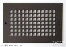 Cast Aluminum Vent Covers Square Pattern bronze
