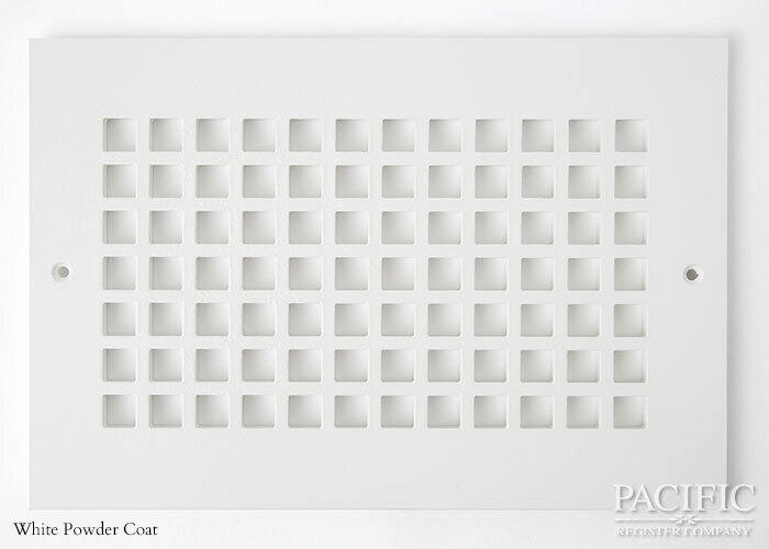 Cast Aluminum Vent Covers Square Pattern white