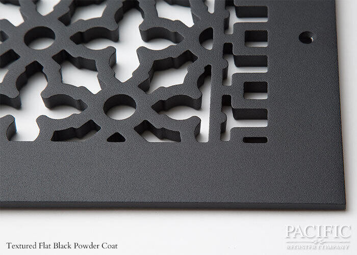 Cast Aluminum Vent Covers Victorian Pattern black CU