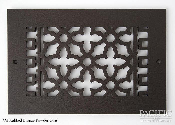 Cast Aluminum Vent Covers Victorian Pattern Bronze