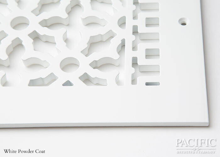 Cast Aluminum Vent Covers Victorian Pattern white CU
