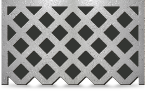 Glass Fiber Reinforced Concrete Window Grilles 3-side frame pacific register