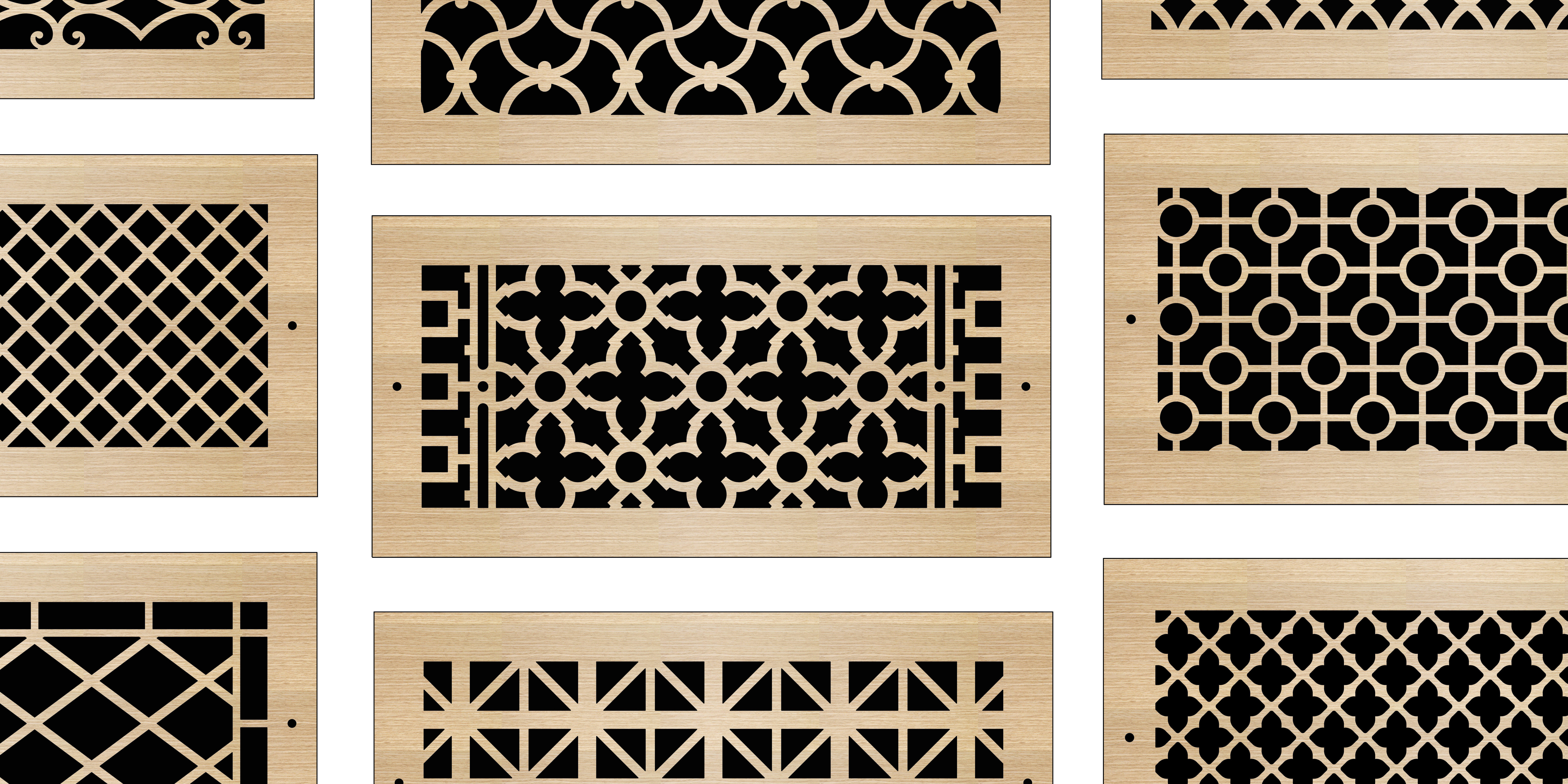 Wood Registers Laser Cut Wall Ceiling Heating Pacific Register Company