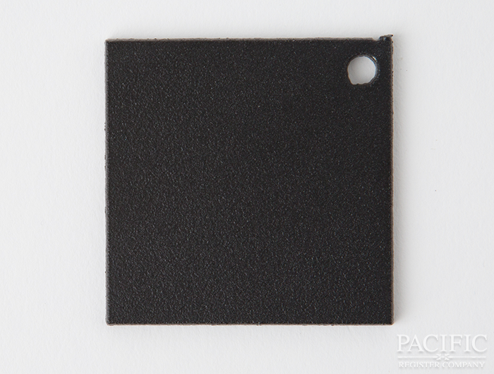 textured flat black powder coat finish pacific register