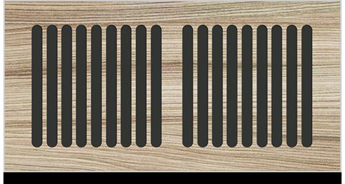wood flush rim grille pacific register