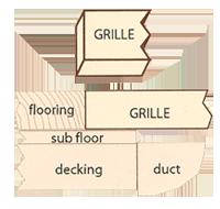 wood register flush mount grilles spec image