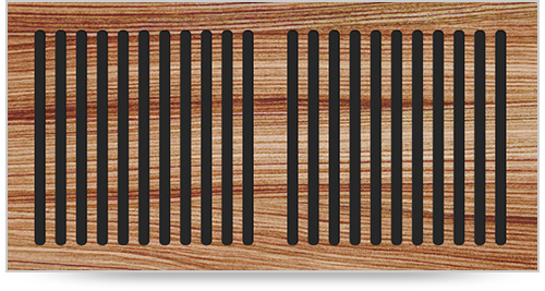 wood self rim grille pacific register