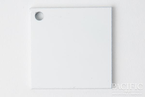 white powder coat finish main pacific register