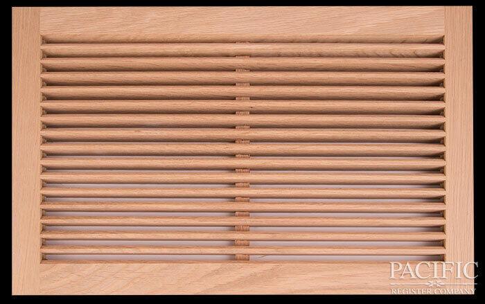 "Flush mount Hidden Mullion Angele Blades Long Direction 3/4"" Red Oak"