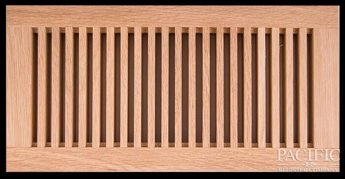 "Flush mount radiator style 3/4"" red oak"