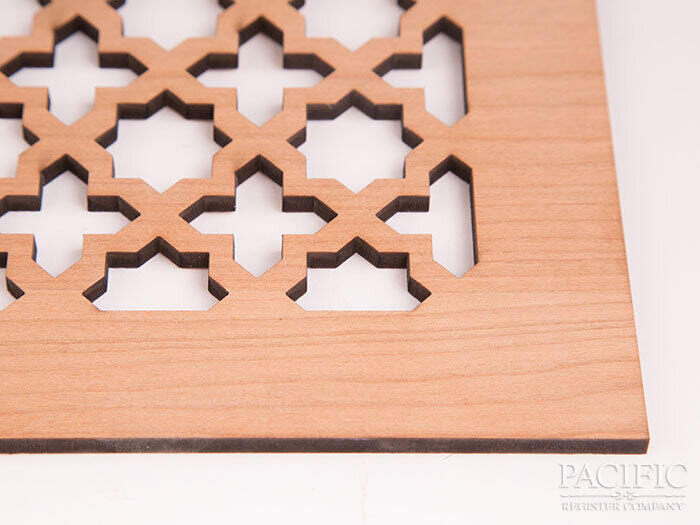 "Laser Cut Mahogany 1/4"" pacific register"