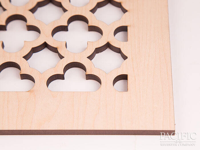"Laser Cut Maple 1/4"" pacific register"